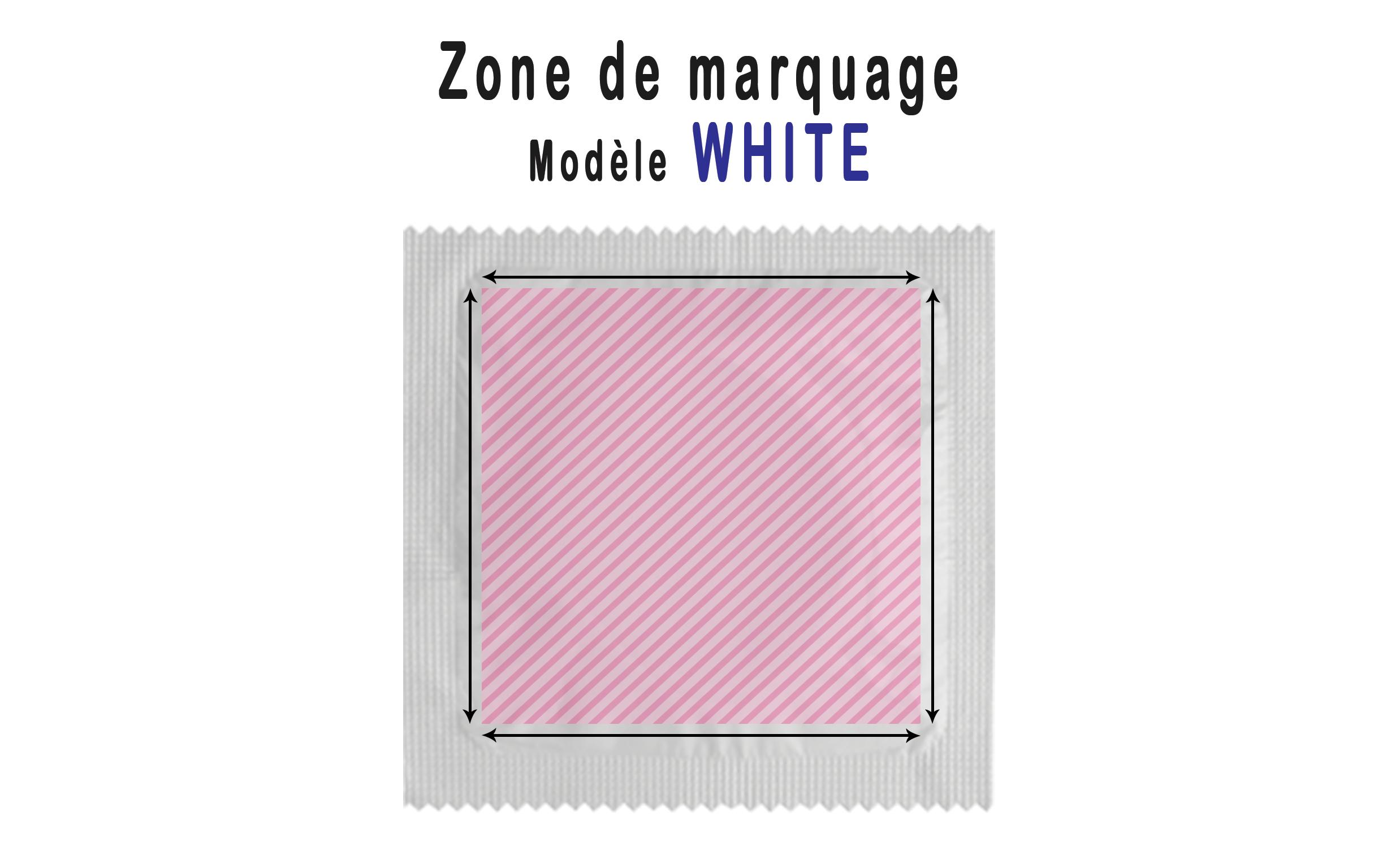 zone de marquage white