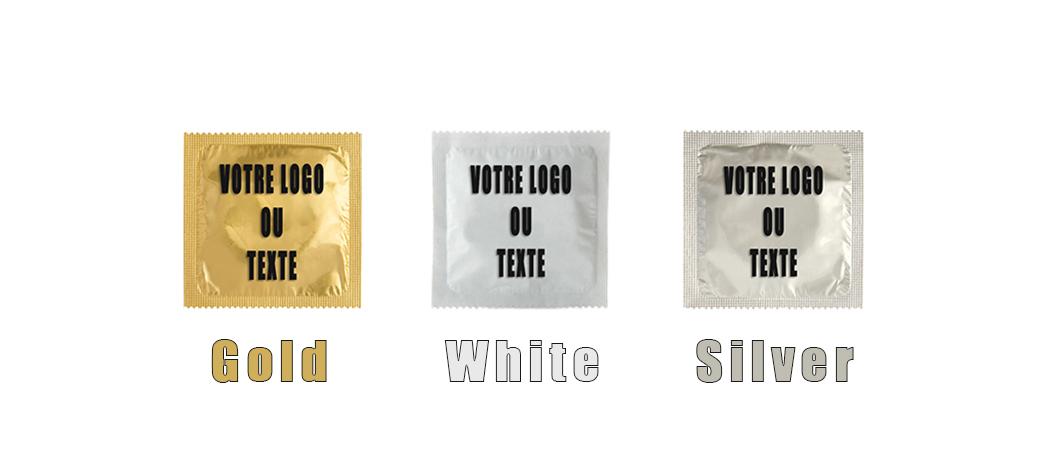 banniere preservatifs gold silver white